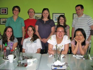 A lab lunch to celebrate Marie's paper being published